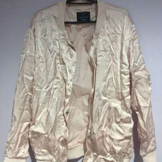 Factorie rose gold bomber jacket