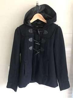 Navy Waist Length Duffle Coat