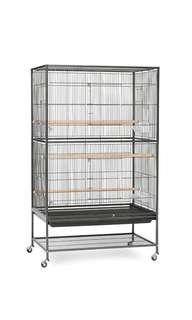 DISCOUNTED! Prevue Hendryx Wrought Iron Flight Cage Large Black Hammertone/Chalk White