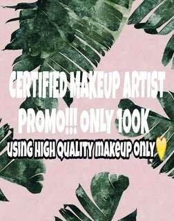 certified makeup artist only 100k