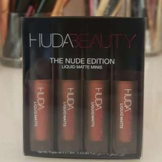 HUDA BEAUTY Matte x 4 NUDE EDITION Minis SET BRAND NEW & AUTHENTIC $45 (Price is Firm,  No Swaps)