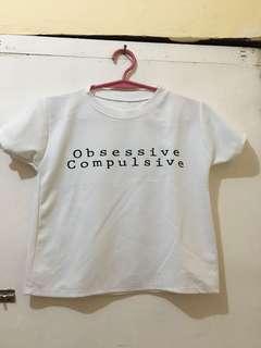 Obsessive Compulsive Crop Top