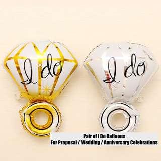 """I DO"" Balloons (One Pair)"