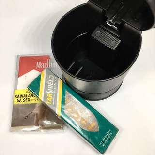 Portable Ashtray + Electric Lighter + Mini Filters