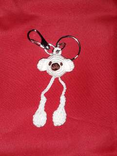 Crochet Bear Boxer with gloves Keychain.