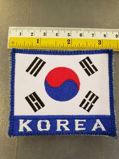 Korea embroidered patch Korean Flag embroidery Taekwondo