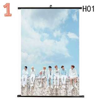 BTS Cloth Scroll Poster(4 DESIGNS AVAILABLE) (PRE-ORDER)