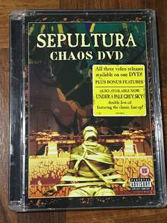Sepultura Chaos DVD- 3 videos in ONE DVD