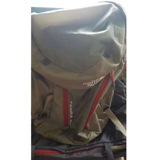 Used Authentic Northface TERRA 65 Hiking Rucksack Backpack