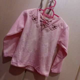 Lace Up Pink Sweater