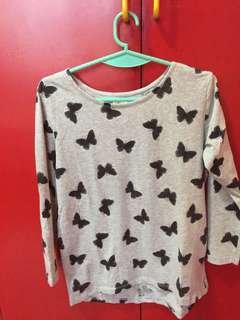 Cute Butterfly Long Sleeves