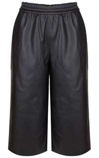 Faux leather wide leg pants/culottes