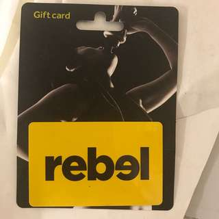 Rebel sport gift voucher $100