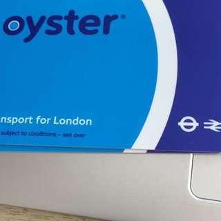 London Oyster Tube card