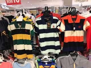 RM 15 ONLY ! Kids Collar T-shirt