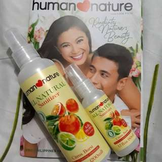 HUMAN NATURE HAND SANITIZER COMBO 200ml plus 50ml