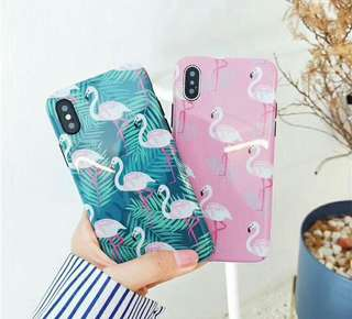 Pattern Flamingo Pink and Pattern Flamingo Tosca Case