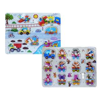 Mainan Puzzle Anak PUZZLE NAIL VEHICLE / LETTER - DHF61