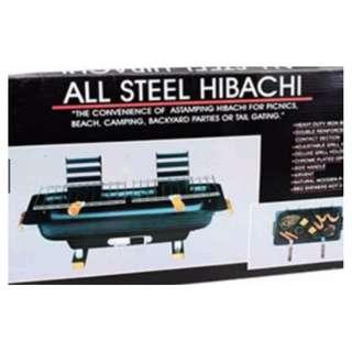 Hibachi Steel Charcoal BBQ Grill (Black)