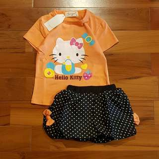 Kitty set polkadot pant