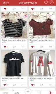 Clothing bundle size xxs-m
