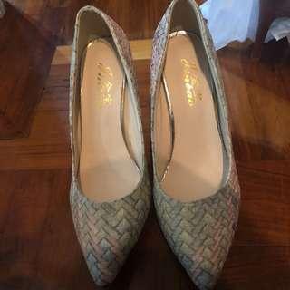 Pastel multicolor heels