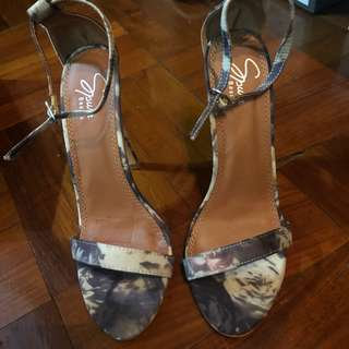 Floral barely there heels