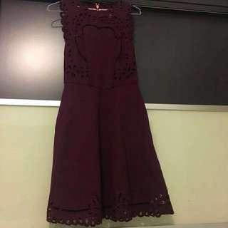 Ted Baker Burgundy Red Dress