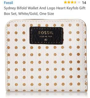 Fossil Sydney Bifold Wallet Only - white/gold