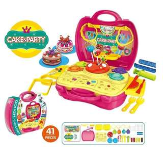 Dough Cake and Party Pretend Playset (Bowa Dream The Suitcase)