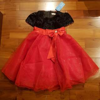 Party dress redblack