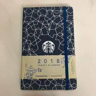 Starbucks moleskin planner 2018