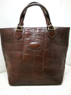 Authentic Vintage Mulberry Croc Stampped Handbag