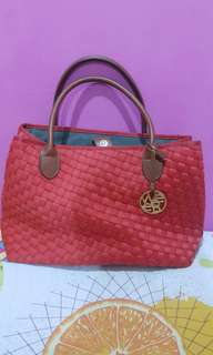 Webbing Red Bag