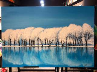 Winter day - Acrylic on Canvas