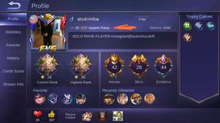 MYTHIC ACCOUNT WITH MANY SKINS AND HERO FOR SALE RM 500, WS 0184643280