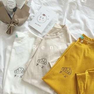 🚚 可愛起司印花短袖T恤