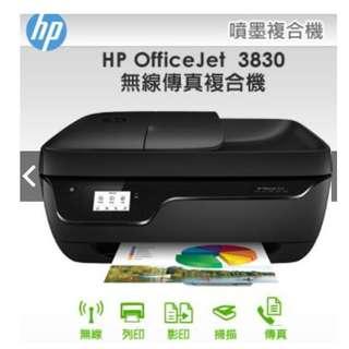 展示機 不含墨匣 Hp OfficeJet 3830 複合機 傳真 複印 掃描 無線 18.5.18保固一年