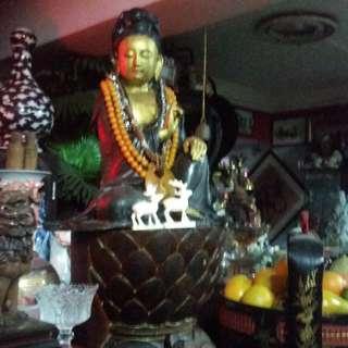 Antiques Bronze Sculpture Godness of Mercy Statue.