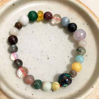 mixed gemstones bracelet