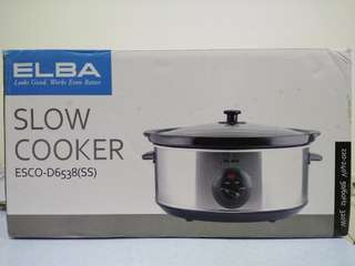 Used - Elba Slow Cooker ESCO-D6538(SS)
