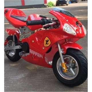 49CC like ferrari motorbike 2 STROKE GAS BIKE