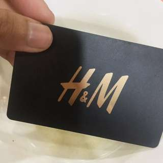 H&M Gift card worth RM150