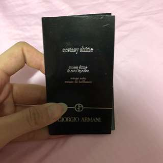 🚚 Giorgio Armani Ecstasy Shine Excess Shine and Care Lipcolor Sample