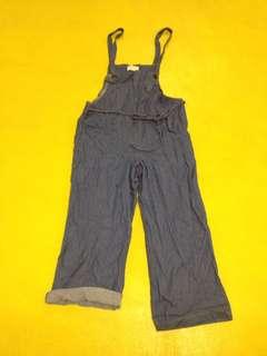 寬版吊帶褲