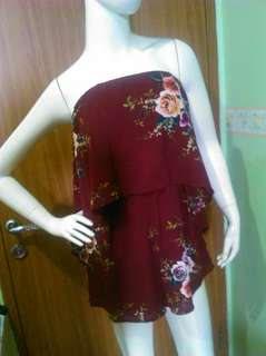 Playsuit red flower