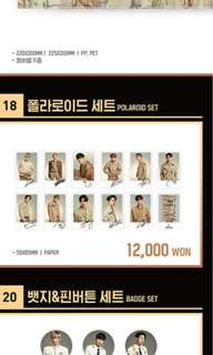 WTS wanna one official concert goods polaroid set
