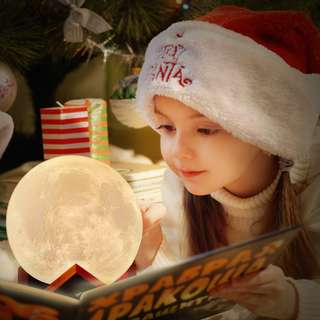 [PO] Novel 3D Full Moon Shaped LED Light Magical Indoor Bedroom Reading Lunar Lamp