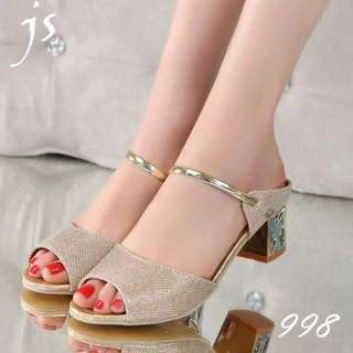 #027 RESTOCK!!! Sandals (silver and gold) more inside!