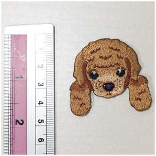 Poodle iron on patch